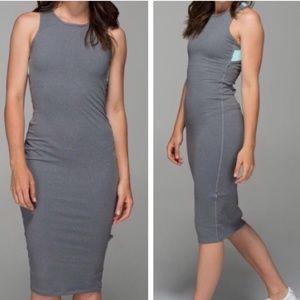 Lululemon Grey Picnic Play Heathered Slate Dress